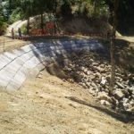 Ch 180 to 220 – completion of earth works for downslope embankment