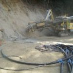 Ch 360 to Ch380 – Installation of the lower level soil nails