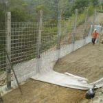 Ch 1240 to Ch 1260 installing the galvanised mesh to form the face panel of EPS wall