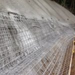 Ch 760 - Ch 800 placing of reinforcing for the shotcrete drain