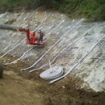 Ch 760 to Ch 880 installation of the soil nail and shotcret wall