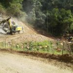 Ch 760 to Ch 880 rock drilling of upslope embankment for soil nails