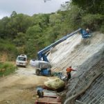 Ch 770 to Ch 820 overview of shotcrete spraying operation