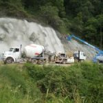 Ch 770 to Ch820 overview of shotcrete spraying operation