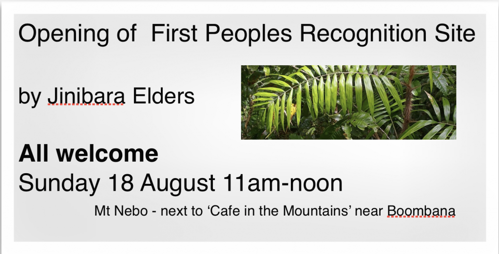 Opening of  First Peoples Recognition Site